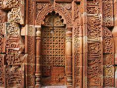 Arab script around the  small side door to Humayun's Tomb, Delhi, India