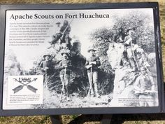 Apache Scouts are an important part of Fort Huachuca's history.  The last Indian Scouts in the Army were White Mountain Apache who retired in 1947.