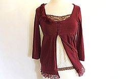 Hey, I found this really awesome Etsy listing at http://www.etsy.com/listing/120242501/womens-clothing-burgundy-long-sleeve