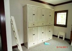 Hampton Bunk Bed with Antique White finish closed @Jayne Bode SEE THIS!?