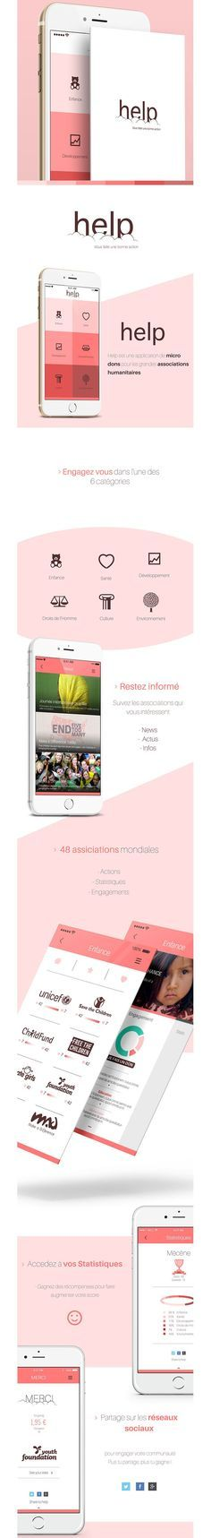 Mobile App / Flat Design app ios iphone smartphone #help #mobile #ui