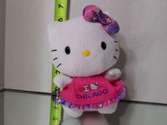 "Ty HELLO KITTY (Love Chicago) Pink Dress (6"") Beanie Baby 2012 Boys Girls 3+ NT #Ty"