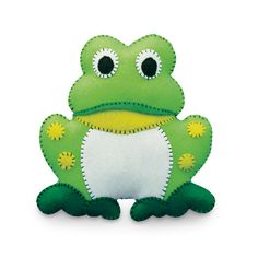 Printable Felt Animal Patterns | Felt Friends - Frog ~ Stuffed Animal Kits