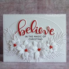 A Scrapjourney: Poinsettia Spray - card making - Weihnachten Christmas Cards 2018, Homemade Christmas Cards, Diy Christmas Gifts, Homemade Cards, Holiday Cards, Christmas Vacation, Christmas Card Sayings, Christmas Ideas, Poinsettia Cards
