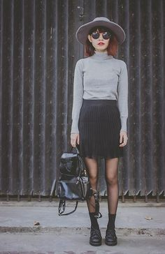 Get this look: http://lb.nu/look/7005374  More looks by Phen Holy: http://lb.nu/phenholy  Items in this look:  Tomtop Skirt, Tomtop Bag   #grunge #minimal #punk