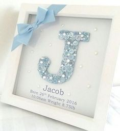 Baby diy keepsakes shower gifts Ideas for 2019 Deco Baby Shower, Baby Boy Shower, Baby Shower Gifts, Baby Shower Keepsake, Baby Shower Frame, Baby Shower Cards, Baby Showers, Baby 1st Birthday Gift, Birthday Gifts For Boys