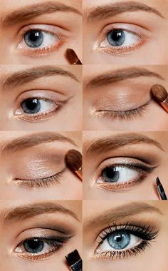 Natural make-up for blue eyes