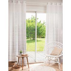 NIRVANA grey printed eyelet curtain 140 x 250 cm
