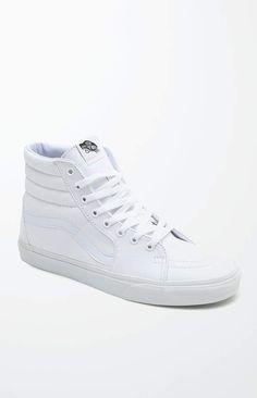 8832a8927b1298 Vans Sk8-Hi White Shoes White Low Top Vans
