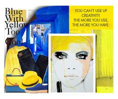 """""""Blue and Yellow Too Cool"""" by no-where-girl ❤ liked on Polyvore"""