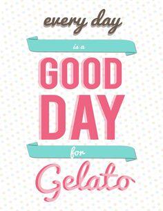 @tekneitalia - gelato poster - Gelato Design by Lydia Ekeroth, via Behance