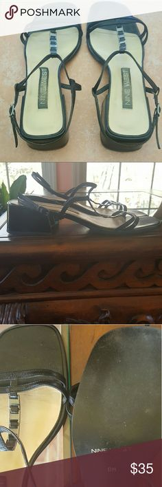 Nine West Sandals, Size 8 Nine West Sandals, Size 8, Worn No More Than Three Times. COLOR: Black. Heel Height: Approximately 1 3/4 (1.75) Inches. Nine West  Shoes Sandals