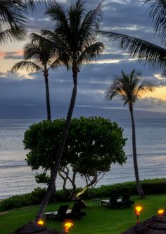 Beautiful sunset in Lahaina, Maui, Hawaii