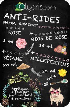 Rides estompées grâce à l'huile essentielle de rose d'Olyaris. Vieillir oui, mais avec classe !