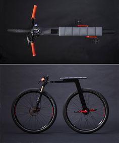 """Créé par le designer américain J. Ruiter, ce vélo """"fixie"""" (pignon fixe) est épuré au possible et renouvelle complètement la forme du fixie, et du vélo e"""