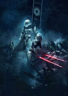 'Star Wars' vs. 'Aliens' by Guillem H. Pongiluppi
