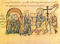 St Andrew's prophecy of Kiev depicted in Radzivill Chronicle.