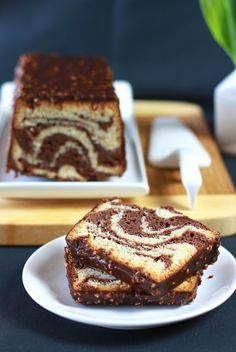marble cake François Perret, iced way Rock 9 Food In French, Biscuit Cake, Marble Cake, Fashion Cakes, Biscuits, Donuts, Fondant, Delish, Good Food