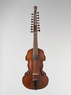 """1726 German (Munich) Viola d'amore at the Metropolitan Museum of Art, New York - From the curators' comments: """"Viola d'amore with seven melody strings and 9 sympathetic strings; a large model sometimes called the """"English violet."""""""""""