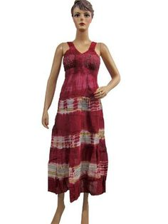 Women Beach Party Maroon Sundress Crochet Neckline Tie Dye Maxi Dress Mogul Interior, http://www.amazon.com/gp/product/B008KG92IM/ref=cm_sw_r_pi_alp_hYeiqb1YYEY7E