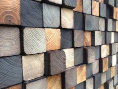 Dcore você | Painel para parede com blocos de madeira | http://www.dcorevoce.com.br