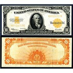 Gold Note, S/N H97024717, pp E, Speelman | White, PMG graded Choice Very Fine 35, very attractive note with bright colors on front and back, large even margins and sharp corners, a superior example for the grade and appears XF.