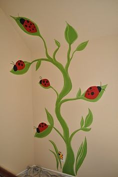Painting and Design by Celeste: The Lady Bug Room