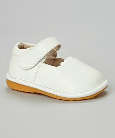 998fe2ca2f74b White Leather Squeaker Shoe by Smocked or Not  zulily  zulilyfinds comes in  black