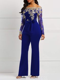 Ericdress Lace Patchwork Skinny Women's Jumpsuits 13469988 - Ericdress.com