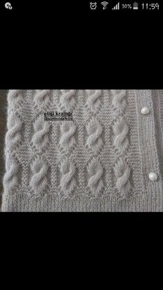 "diy_crafts- Knitted Women's Vest, Cardigan, Sweater knit knitting crochet Knitted Women Vest Cardigan Sweater ""This post was discovered Baby Knitting Patterns, Knitting Designs, Knitting Stitches, Knitting Projects, Stitch Patterns, Crochet Patterns, Easy Knitting, Knitting For Beginners, Baby Sweaters"