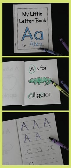 Simple little ABC books are perfect for introducing letters to preschoolers. -A little book for each letter of the alphabet! -Easy to copy and assemble for your class. -Great for letter of the week!