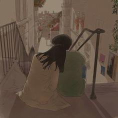 Cute Couple Drawings, Cute Couple Art, Cute Drawings, Love Cartoon Couple, Anime Love Couple, Couple Illustration, Illustration Art, Aesthetic Art, Aesthetic Anime
