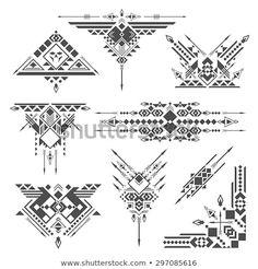 Tribal elements Geometric Tattoo Design, Tribal Tattoo Designs, Geometric Art, Tribal Tattoos, Geometric Sleeve, Chicano Tattoos, Indian Tattoos, Body Art Tattoos, New Tattoos