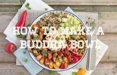 How to create the perfect buddha bowl. very easy to make healthy dinner recipe. Vegan and gluten free buddha bowl recipe