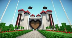 "This week on ""What i'd love to build but don't have the talent and patience for"": Disney castle in minecraft Minecraft Park, Disney Minecraft, Minecraft Houses Survival, Easy Minecraft Houses, Minecraft Houses Blueprints, Amazing Minecraft, Minecraft House Designs, Minecraft Creations, How To Play Minecraft"