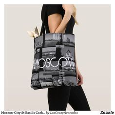 Moscow City St Basil's Cathedral Architecture City Tote Bag Cathedral Architecture, St Basils Cathedral, St Basil's, Edge Design, Moscow, Tote Bag, Stylish, City, Bags