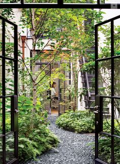 Interior Courtyards: This image is from a lovely blog post on lookslikewhite about the beauty and delight of interior courtyards. Having an open-to-the-sky center of the home is a beneficial feature of Vastu. I plan something like this for my own house! Sherri Silverman, author of Vastu: Transcendental Home Design in Harmony with Nature. http://transcendencedesign.com/vastu More