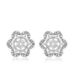 1.50 Ct Round Cut Real Diamond Stud Earrings Solid 14k White Gold Womens Gift #CaratsForYou #Stud