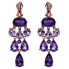 Amethyst and Diamond Earrings by Gavello