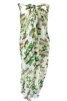 Spun by Subtle Luxury Sedona Summers Sarong Wrap in Green