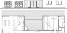 House Plan CH339 Cottage Floor Plans, Pole Barn House Plans, New House Plans, Cabin Plans, Small House Plans, House Floor Plans, Building A Container Home, Container House Design, Small House Design
