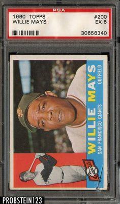 99fb39ec1772 1960 Topps Willie Mays Baseball Card for sale online