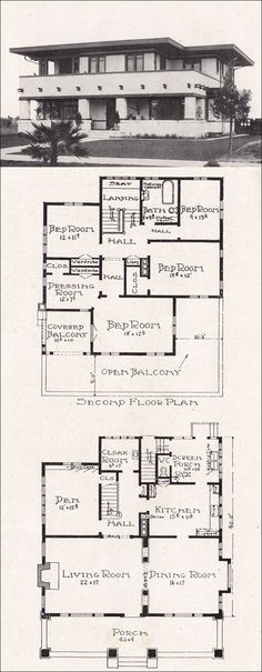 Can someone please build me this? 1918 Representative California Homes by E. Plan Design, Home Design, Prairie School, Vintage House Plans, House Blueprints, California Homes, Architecture Plan, Building Plans, House Floor Plans