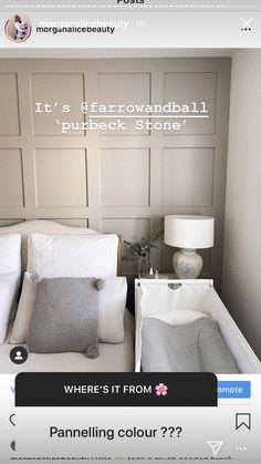 Room Ideas Bedroom, Home Bedroom, Home Living Room, Bedroom Wall, Living Room Decor, Bedroom Decor, Living Room Panelling, Feature Wall Bedroom, Master Room