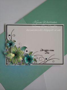 karenzkardz: Honey Doo Crafts Flowers For Design stamp set and die Butterfly Cards, Flower Cards, Card Making Inspiration, Making Ideas, Honey Doo Crafts, Chloes Creative Cards, Handmade Envelopes, Stamping Up Cards, Sympathy Cards
