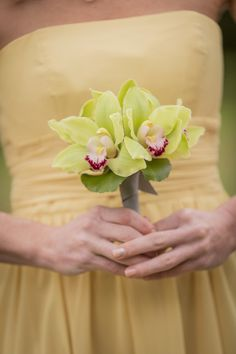Green Cymbidium Orchid: http://www.stylemepretty.com/2015/04/07/20-single-bloom-bouquets-we-love/