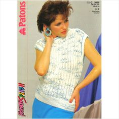 "Patons 3005 DK knitting pattern for lady's lacy knit sleeveless top 30-40"" on eBid United Kingdom"
