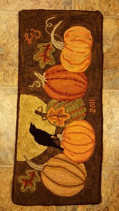 Fall Pumpkins Designed by Tricia Travis Adapted (added the moon & crow) and…