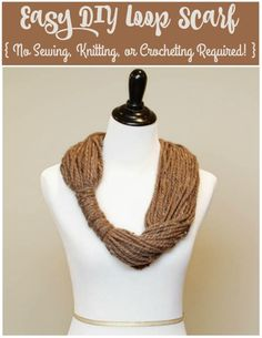 Make this easy & chic loop scarf with Wool-Ease Thick & Quick! No sewing, knitting, or crocheting required!