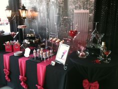 Sex in the City - themed candy buffet